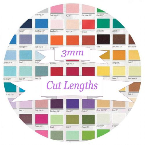3mm Berisfords Double Satin Ribbon - Cut Lengths